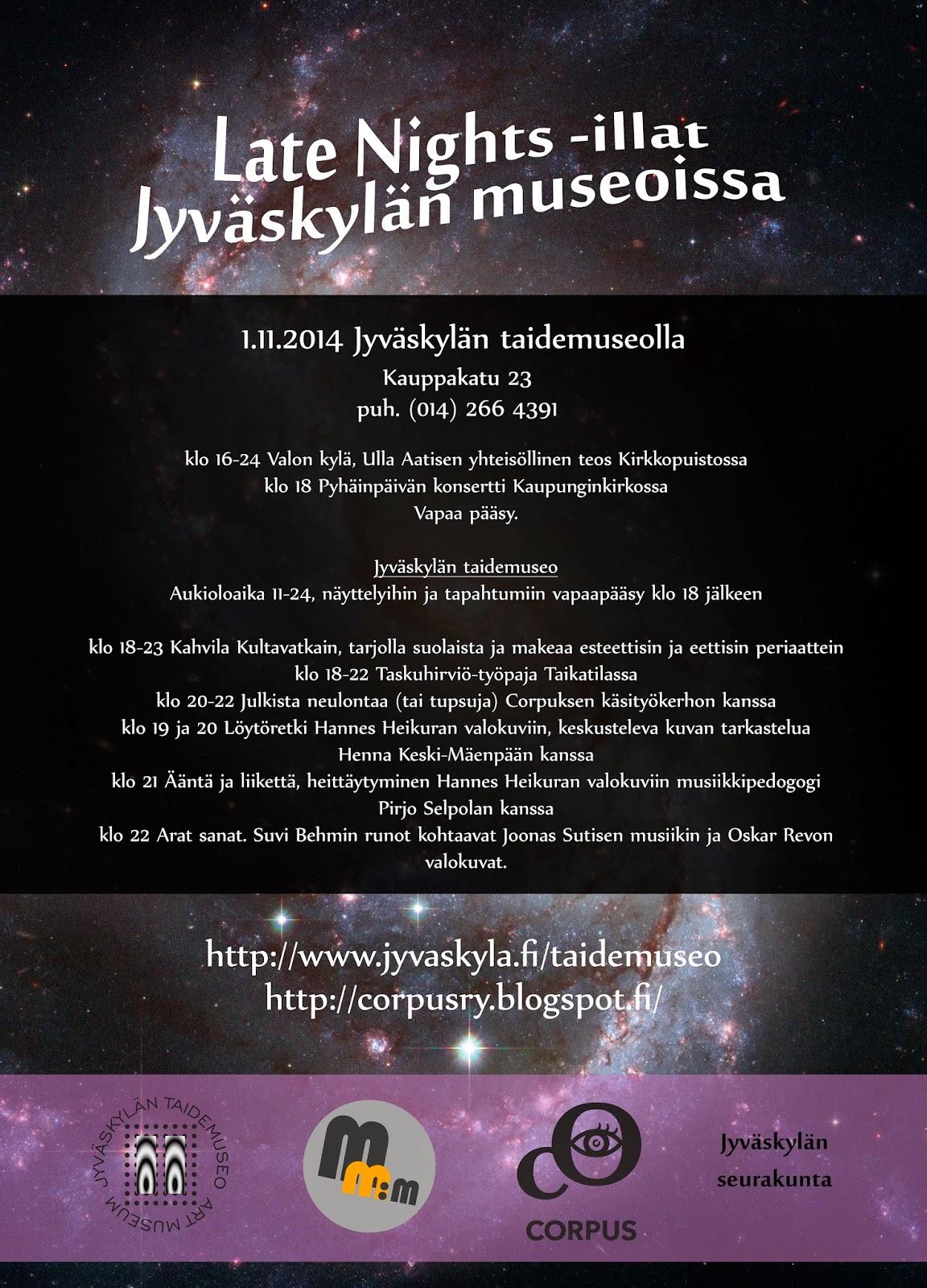 Corpus valtaa pyhäinpäivänä Jyväskylän taidemuseon!